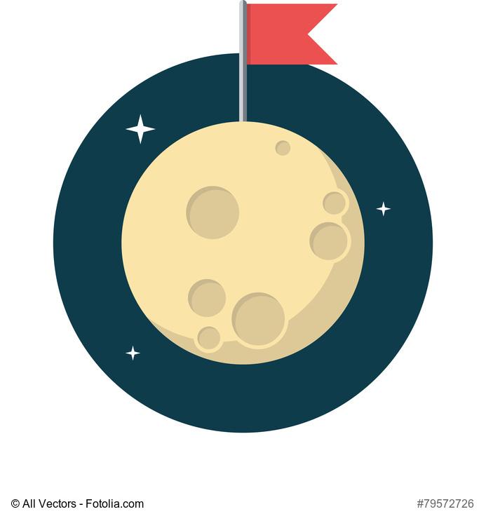 Immagine vettoriale della luna