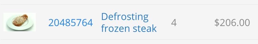 Esempio di come guadagnare da casa riprendendo una bistecca che si sgela