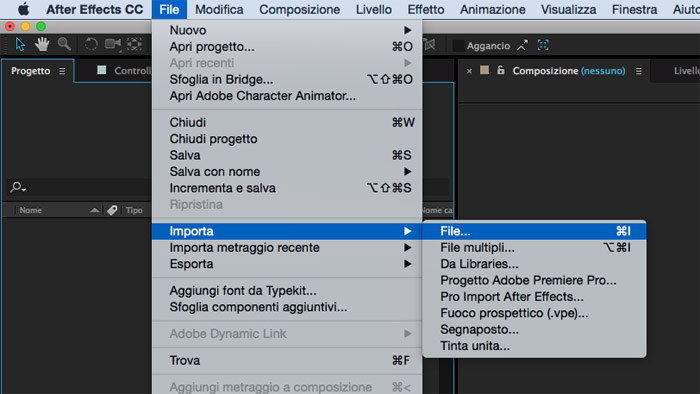 Fotogramma di After Effects tratto da un tutorial per hyperlapse