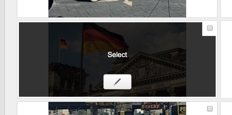 Dashboard di Shutterstock per la selezione del fotogramma di anteprima