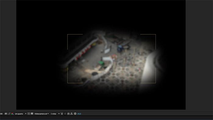 Fotogramma di After Effects tratto da un tutorial per tilt shift