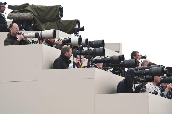 Fotografi a margine di un evento sportivo