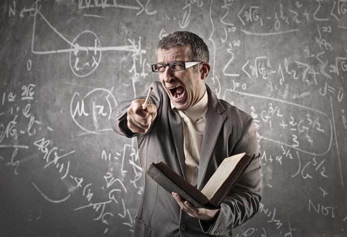 Professore che urla