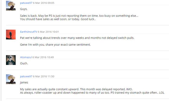 Il forum di Pond5 raccoglie opinioni solo di produttori che non vendono