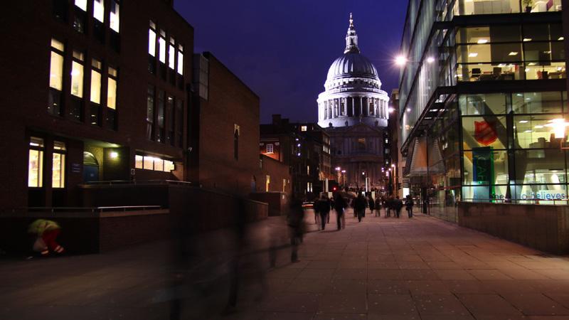 Stock footage della Cattedrale di Saint Paul a Londra