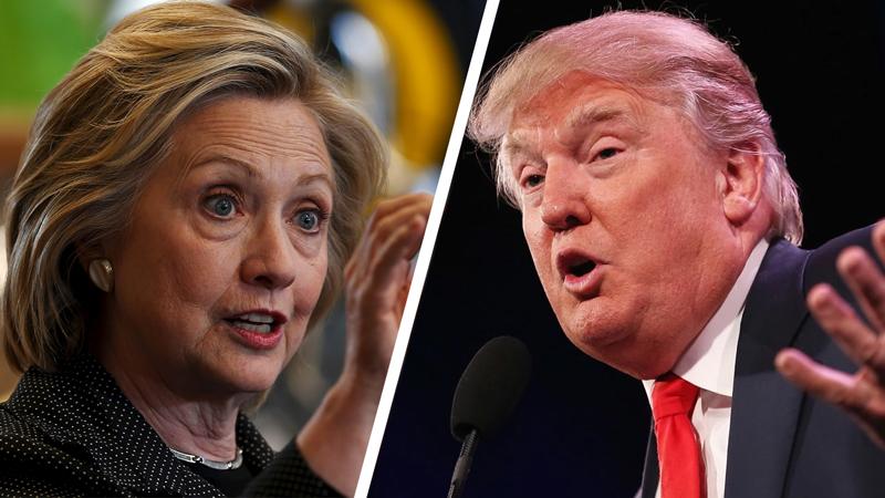 Ritratto di Hillary Clinton e Donald Trump