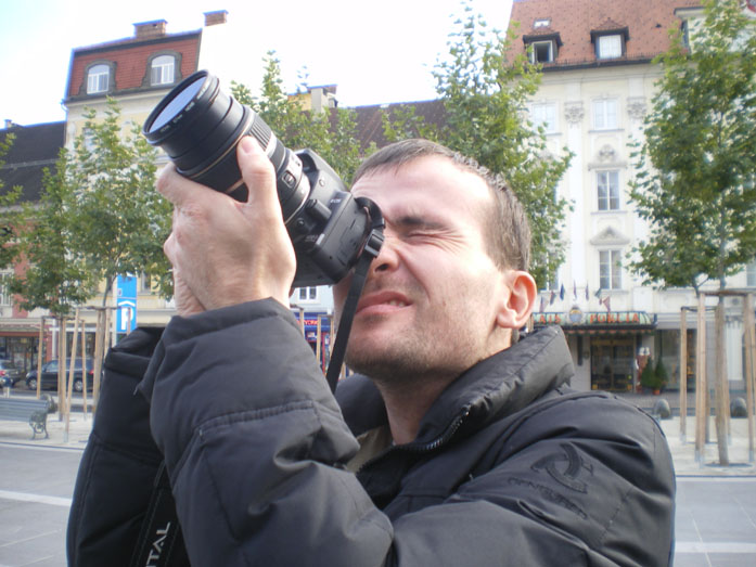 Daniele Carrer a Klagenfurt mentre crea immagini stock