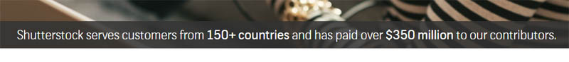 Screenshot delle royalties pagate da Shutterstock