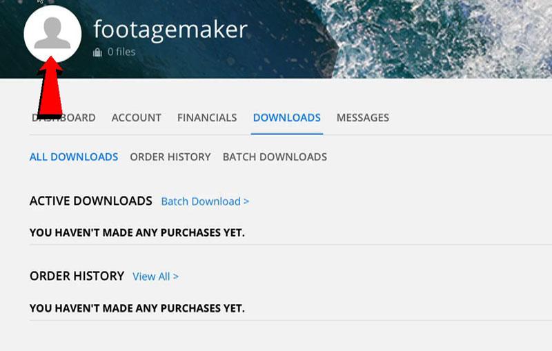 Screencapture della registrazione a Pond5