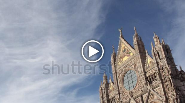 Fotogramma del Duomo di Siena tratto da stock footage in vendita su Shutterstock
