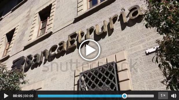 Fotogramma di una sede di Banca Etruria tratto da stock footage in vendita su Shutterstock