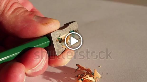 Anteprima del video di un temperino in vendita su shutterstock