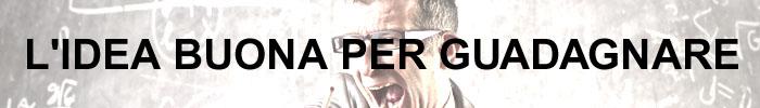 Stockfootage.it: copertina della pagina L'IDEA BUONA PER GUADAGNARE