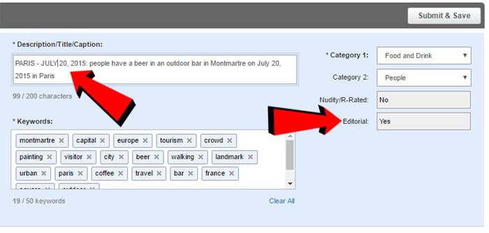 Come compilare una licenza editoriale su Shutterstock