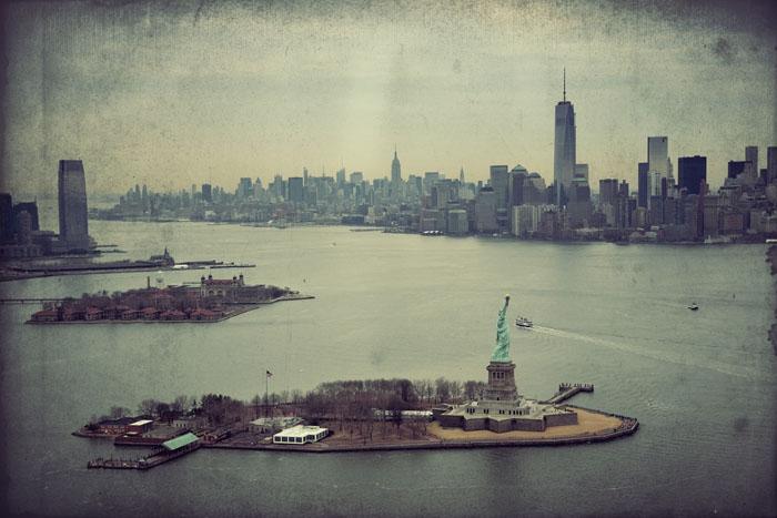 Visione aerea di New York