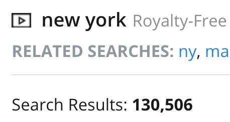 risultati della keyword New York su Pond5