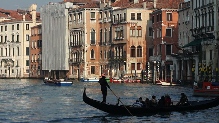 Gondola in the Grand Canal, Venice