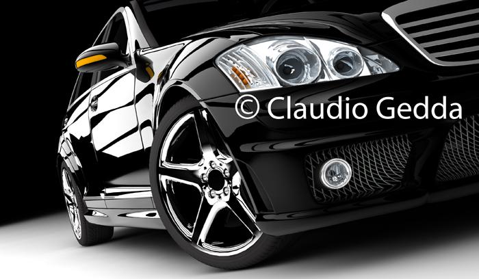 Un immagini stock di un'auto creata in CG da Claudio Gedda