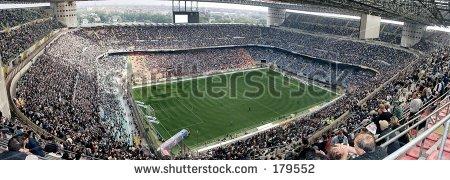 La foto dello stadio di San Siro scattata con una Casio QV-3000EX