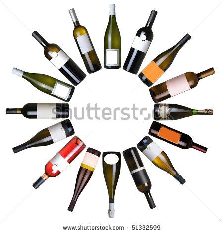 Set di bottiglie tratte dal portfolio di Alessandro Bolis su Shutterstock