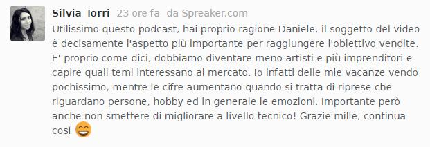 """Commento al podcast """"vendere foto e video online""""."""