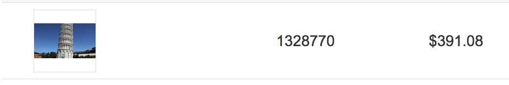 Risultati di vendita di alcuni video girati a Pisa su Shutterstock