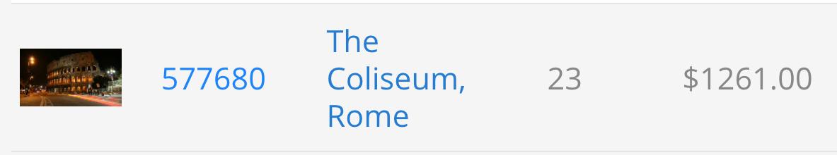 Risultati di vendita di un time-lapsegirato davanti al Colosseo su Pond5