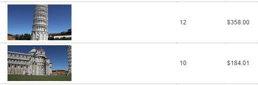 Schermata delle vendite su Shutterstock dello stock footage di Pisa