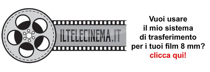 Banner per promuovere il servizio di digitalizzazione di film 8 mm