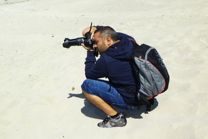 Il fotografo Dino Iozzi in azione a Kangaroo Island