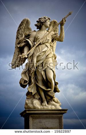 Statua del Bernini raffigurante un angelo fotografata da Dino Iozzi