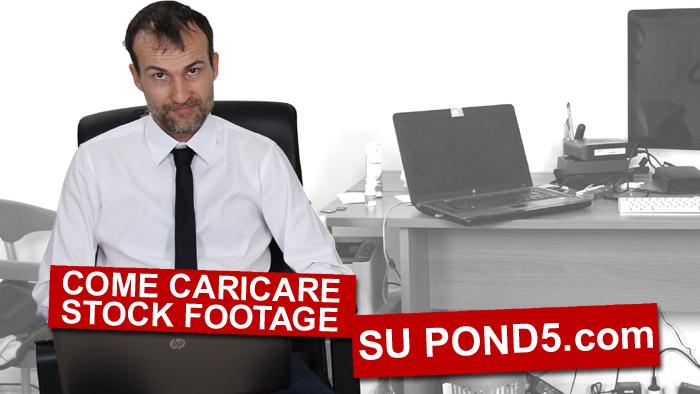 """Banner del video-tutorail """"come caricare stock footage su pond.com"""""""