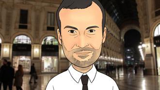 """Locandina del cartone animato di Daniele Carrer """"Vendere foto e video online"""""""