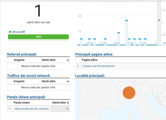 Screenshot di google analytics