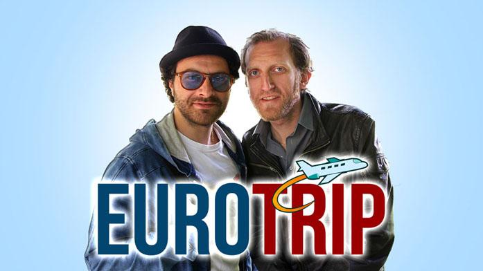 Fabrizio Stefan e Tommaso Cicarelli nella locandina del Locandina del docu-reality Eurotrip