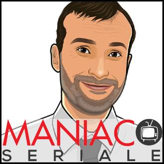 """Locandina del podcast """"Maniaco seriale"""""""