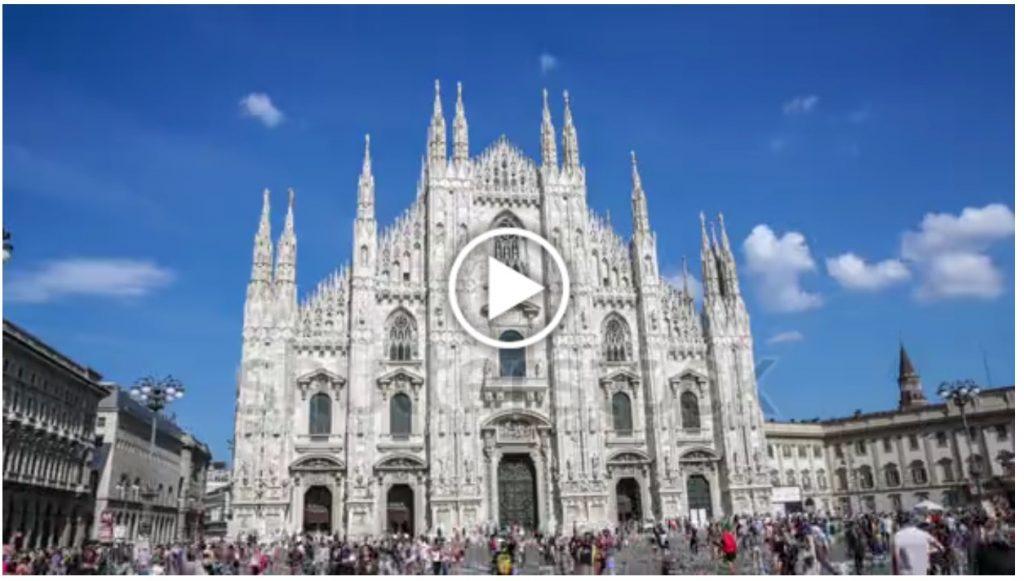 Fotogramma tratto da un hyperlapse del Duomo di Milano