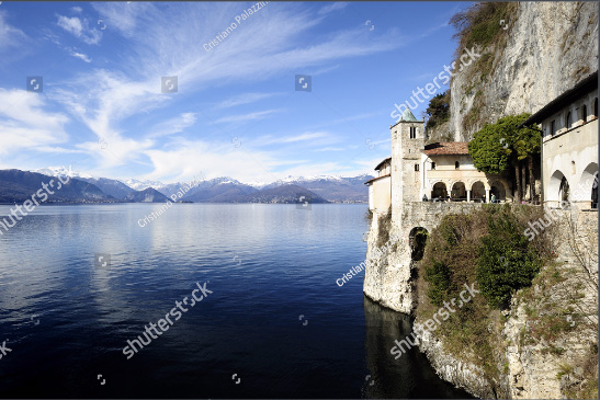 Santa Caterina del Sasso famous Hermitage on Lake Maggiore in Italy, photo by Cristiano Palazzini