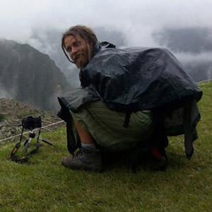 Simone Scalise mentre fotografa a Machu Picchu