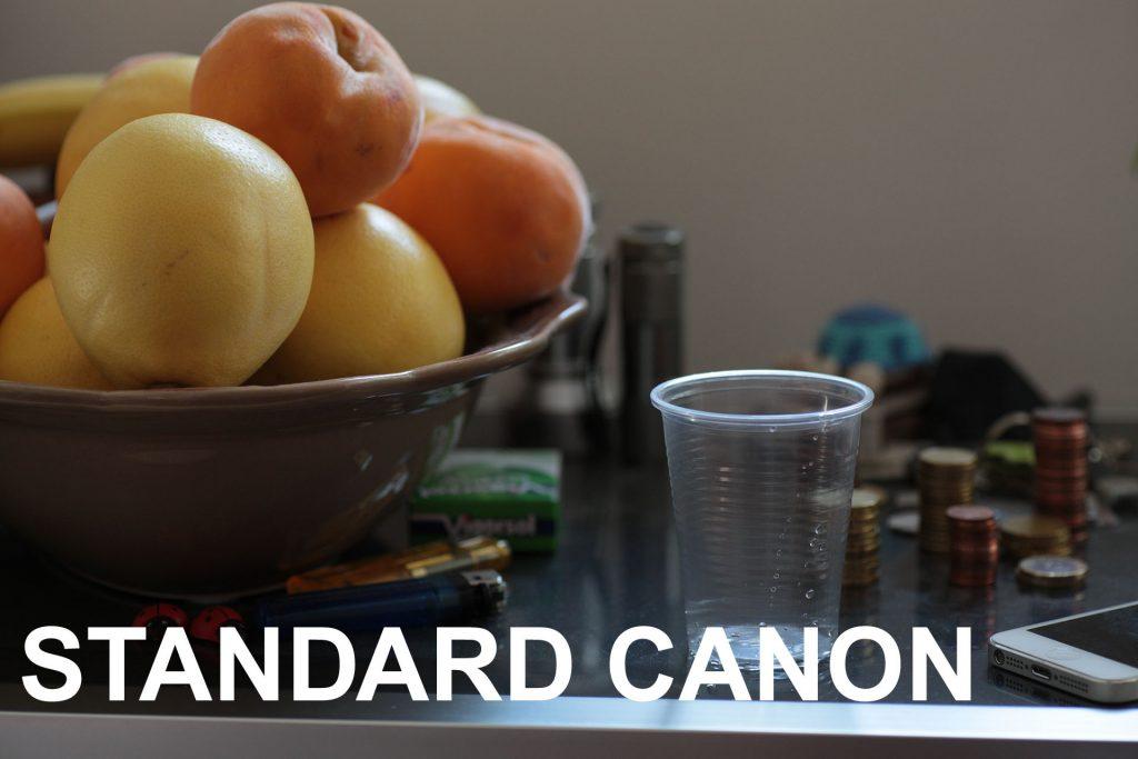 Natura morta con profilo colore standard Canon