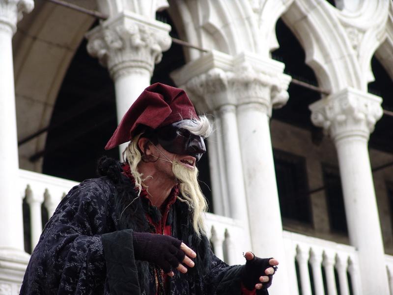 Maschera durante il carnevale di Venezia, foto di Daniele Carrer