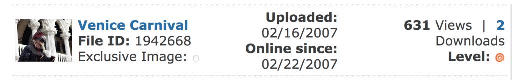 Screenshot di una vendita su Dreamstime