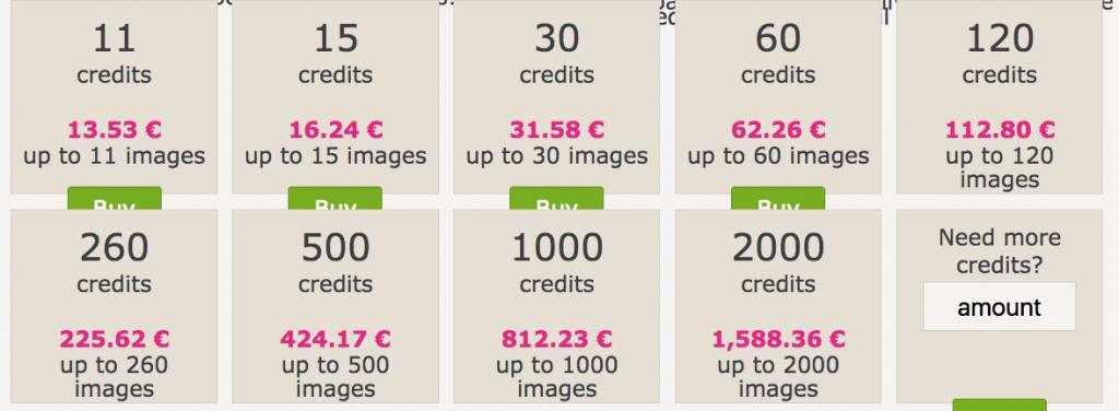 Prezzi delle foto su Dreamstime