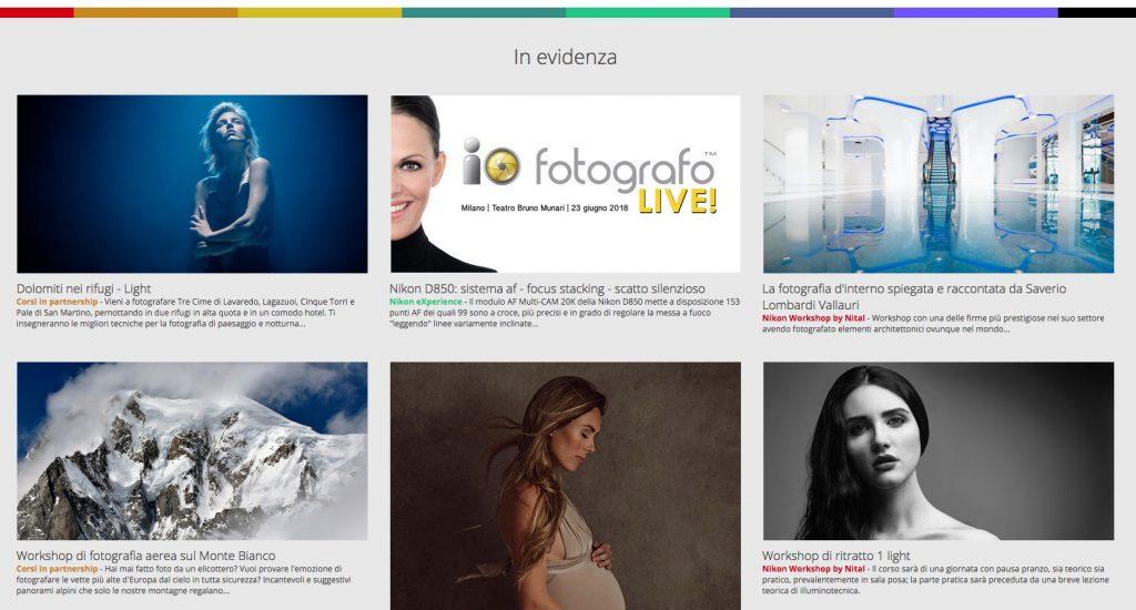 Homepage del sito di Nikon School