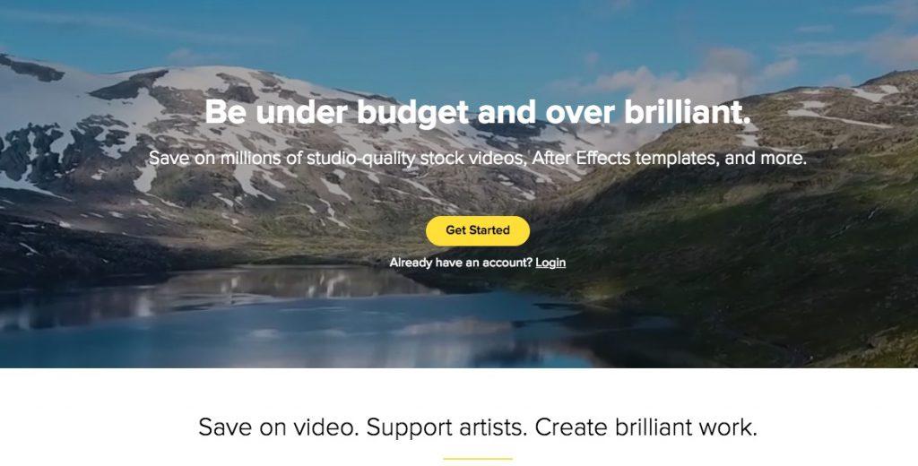 Homepage di Videoblocks