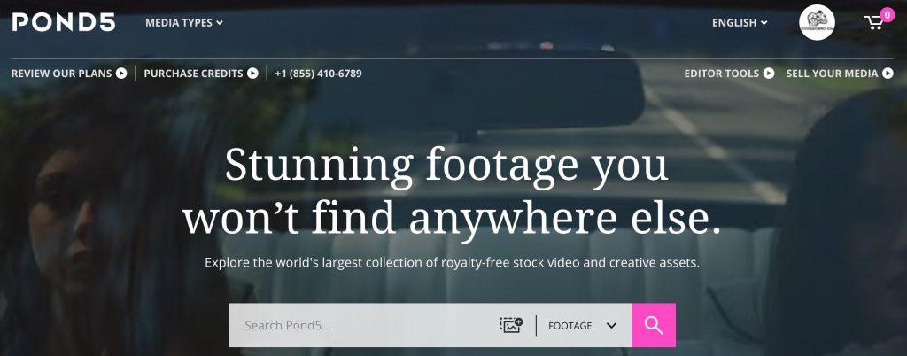 Homepage di Pond5