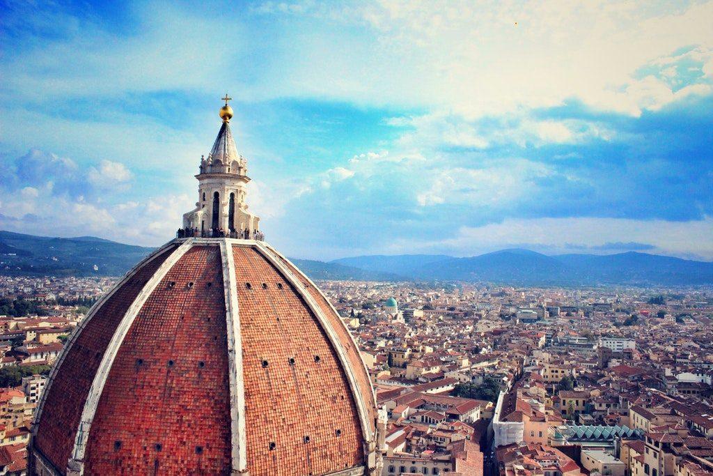 Stock image della cupola del Duomo di Firenze