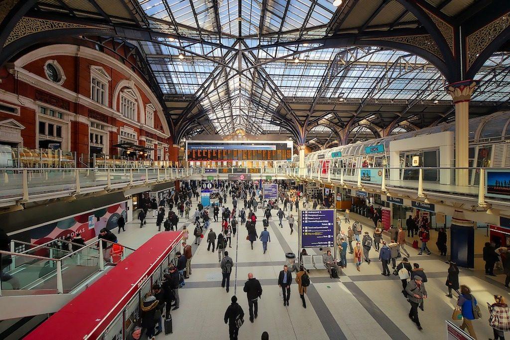 Stazione di Liverpool street a Londra