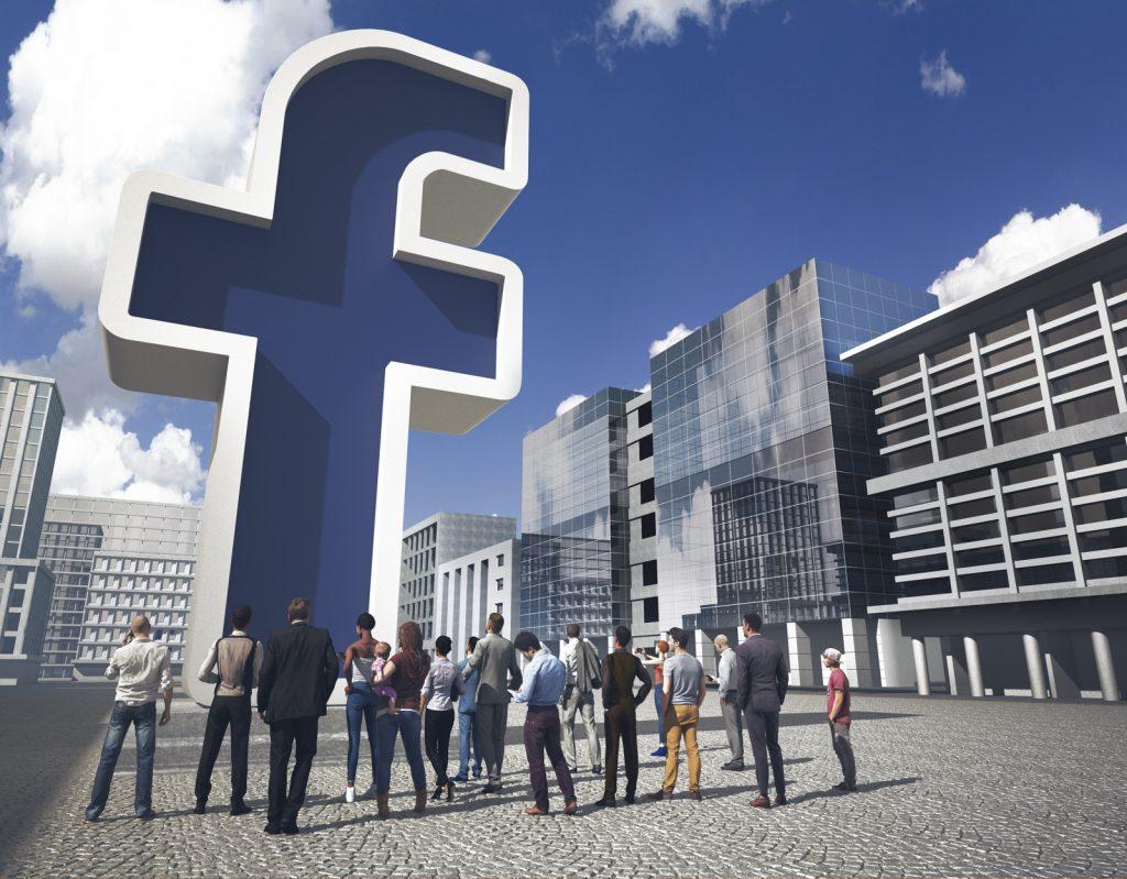 Lavoro grafico del freelance Daniele Gay raffigurante il logo di Facebook