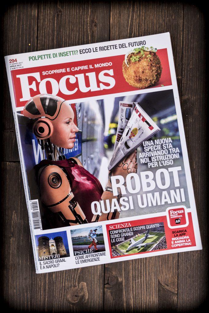 Copertina di Focus del marzo 2017 curata dal grafico freelance Daniele Gay
